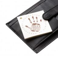 Antica Toscana Porta carte di credito Uomo in Vera Pelle Italiana Porta tessere Sottile Slim con bottone a clip