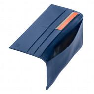 DUDU Portafoglio Uomo Grande Verticale Bifold in Vera Pelle con Cerniera Zip esterna Porta Carte e Banconote