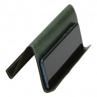 SUPPORTO IN PELLE PER IPAD E IPHONE OLD ANGLER FIRENZE ARTIGIANALE MADE IN ITALY