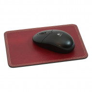 TAPPETINO MOUSE PAD IN PELLE 20x15 CM OLD ANGLER FIRENZE ARTIGIANALE MADE IN ITALY