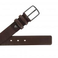 Antica Toscana Cintura Uomo Made in Italy in Vera Pelle H 3,4 cm Accorciabile con Fibbia ad Ardiglione