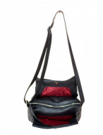 BORSA DONNA A TRACOLLA IN PELLE MONTINI FLORA WAXED MADE IN ITALY