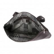 DUDU Borsa a Spalla Donna in morbida Pelle Design Essenziale rettangolare con chiusura a Cerniera lampo