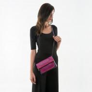 DUDU Borsa Donna in Vera Pelle a Tracolla o Pochette a Mano Multicolor con Cerniera zip