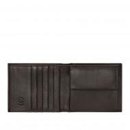 Nuvola Pelle Portafoglio Uomo in Vera Pelle con Portamonete Carte di Credito Banconote Trifold Multitasche