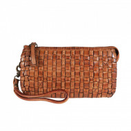 POCHETTE DONNA VINTAGE IN PELLE INTRECCIATA A MANO TUSCAN'S MADE IN ITALY