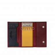 Portachiavi classico in pelle Multicolore a 6 ganci firmato DUDU