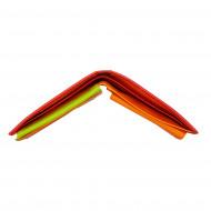 Portafoglio multicolore in pelle classico da uomo firmato DUDU