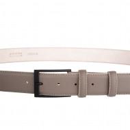 DuDu Cintura Uomo in Pelle vera sopra e sotto da 33mm con Fibbia Nera opaco Made in Italy Regolabile