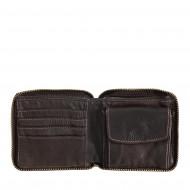 DUDU Portafoglio Uomo con Cerniera in Pelle Vintage Zip Around con Portamonete e Porta Carte