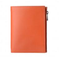 DUDU Portafoglio Uomo in Vera Pelle formato Verticale Slim Porta Carte con Zip adatto a Carta d'Identità