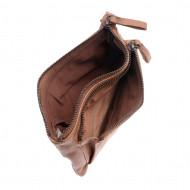 Portafoglio donna in pelle vintage modello busta con 2 zip DUDU