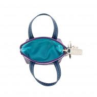 DUDU Portachiavi a Borsetta Portamonete in Pelle colorata con Cerniera Zip 2 anelli e moschettone