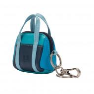 DUDU Portachiavi Portamonete a Borsetta in Pelle Colorata Mini Bag con Cerniera Zip 2 Anelli e Moschettone