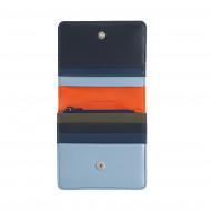 DUDU Portafoglio Donna Piccolo in Pelle Schermato RFID Colorato Ultra Compatto con Zip Interna e 8 Porta Carte Tessere