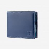DUDU Portafoglio Piccolo Colorato da uomo in Pelle Nappa con Portamonete Porta carte e Banconote