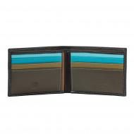 DUDU Portafoglio Uomo Blocco RFID in Pelle Schermato Piccolo da Tasca con slot Porta Carte di Credito