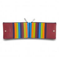 Portafoglio donna a busta in pelle multicolore porta carte DUDU