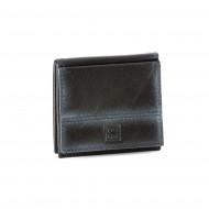 Portafoglio uomo in pelle con portamonete esterno e porta carte di credito DUDU