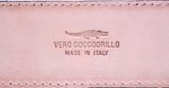 CINTURA UOMO 3,5 CM IN COCCODRILLO ORIONE BELTS ARTIGIANALE MADE IN ITALY