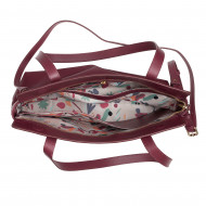 DUDU Borsa Donna da Spalla Shopper Tote Shopping Bag Grande in Pelle Morbida con Cerniera