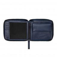 DUDU Portafoglio Uomo con Cerniera Zip in Pelle di Bufalo Zip Around con Portamonete e Porta Carte