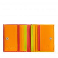 Portafoglio di pelle multicolore porta carte e monete di DUDU