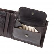 Portafoglio uomo pelle di alta qualità con portamonete 4 tasche carte di credito DUDU