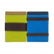 DUDU Portafoglio Magico Uomo Magic Wallet in Pelle Multicolore Colorato con 6 Slot Carte di credito