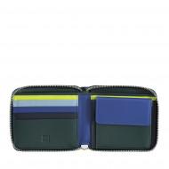 DUDU Portafoglio Uomo RFID in Pelle Portamonete con Cerniera Zip Esterna Piccolo con 6 Slot Carte