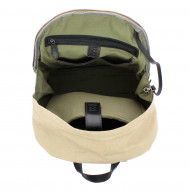 DUDU Zaino per PC porta Computer Notebook in Pelle e Tessuto resistente con tasca frontale e spallacci regolabili