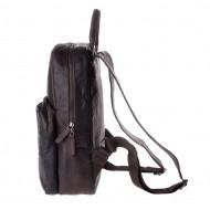 Zaino uomo vintage in pelle stropicciata porta PC notebook a chiusura zip DUDU