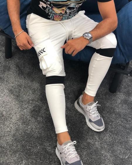 Pantaloni Trening alb