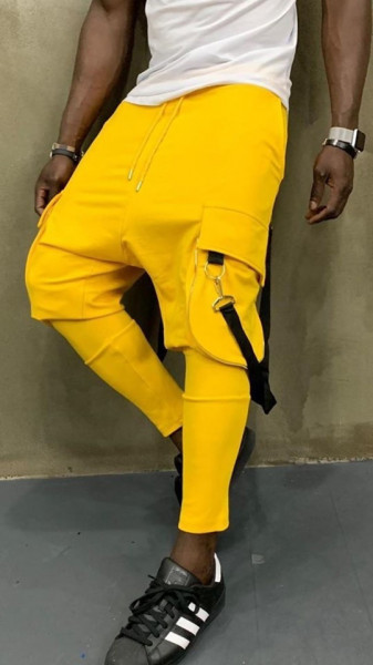 Pantaloni Trening Semi Tur Yellow