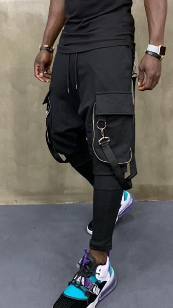 Pantaloni Trening Semi Tur black