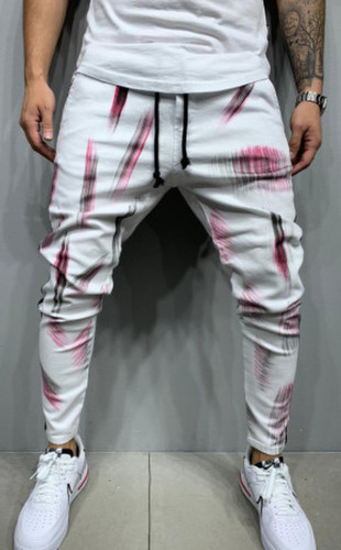 BLUGI SLIM FIT STRIPED&PAINTED WHITE COD B5441