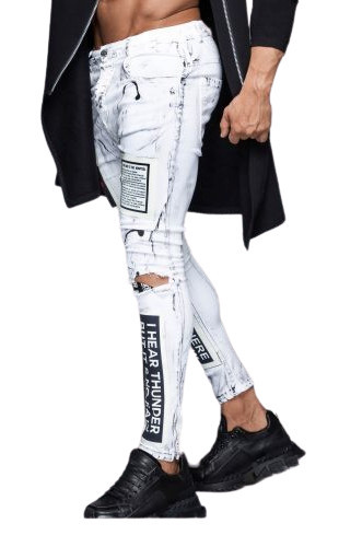 Blugi Mexton Rockstar White