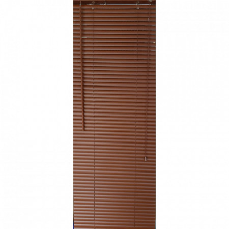Jaluzea orizontala material PVC culoare maro imitatie lemn inchis L 75cm x H 140 cm