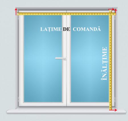 jaluzele orizontale aluminiu alb L 60 cm x H 130 cm