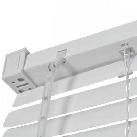 jaluzele orizontale pvc/alb L 55 cm x H 150 cm (SEMI-OPAC)