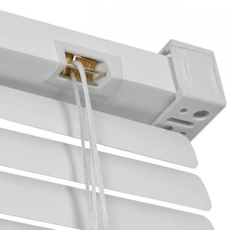 jaluzele orizontale pvc/alb L 120 cm x H 100 cm (SEMI-OPAC)