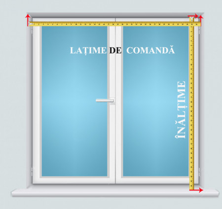 jaluzele orizontale aluminiu alb L 80 cm x H 110 cm