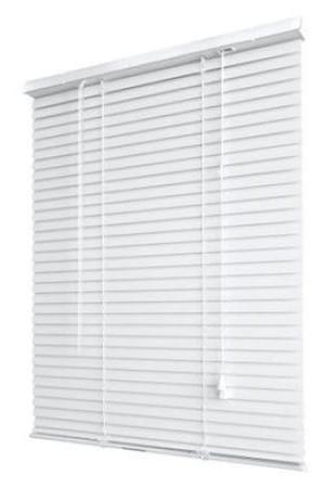 jaluzele orizontale pvc/alb L 100 cm x H 100 cm (SEMI-OPAC)