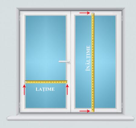 jaluzele orizontale pvc/alb L 55 cm x H 140 cm (SEMI-OPAC)