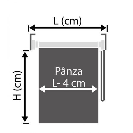 RULOU TEXTIL CLEMFIX MATERIAL OPAC TERMO K105 L 91X H 185 CM