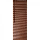 Jaluzea orizontala material PVC, culoare maro, imitatie lemn,inchis, L80cm x H 90 cm