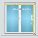 jaluzele orizontale aluminiu maro inchis L 80 cm x H 140 cm