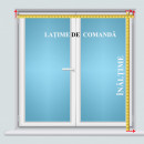 jaluzele orizontale aluminiu alb L 50 cm x H 140 cm