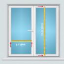 jaluzele orizontale pvc/alb L 60 cm x H 100 cm (SEMI-OPAC)