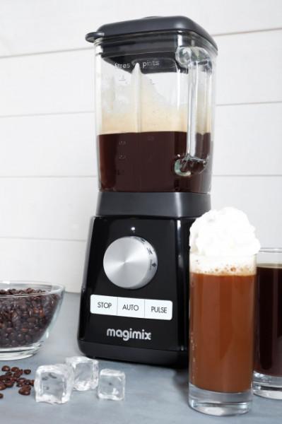 Power Blender MAGIMIX, 1300 W, 22,000 rpm, vas din sticlă 1,8 L, 3 ani garanție, negru
